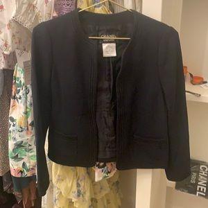 Authentic Black Chanel Uniform Blazer